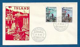 """ISLANDA - 1963 - FDC CON 2 VALORI EMISSIONE """" CAMPAGNA MONDIALE CONTRO LA FAME """" - IN BUONE CONDIZIONI. - FDC"""