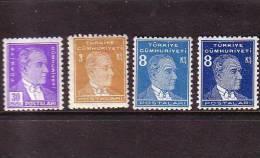 1936-1937 TURKEY POSTAGE STAMPS OF THE THIRD ATATURK ISSUE MNH ** - Ungebraucht