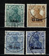Belg. 1916 OBP/COB OC 27, 30, 31, 31a Gest./obl. - [OC26/37] Territori Tappe