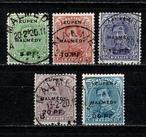 Belg. 1920 OBP/COB OC 55/59 Gest./obl. - [OC55/105] Eupen/Malmedy