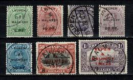 Belg. 1920 OBP/COB OC 55/61 Gest./obl. - [OC55/105] Eupen/Malmedy