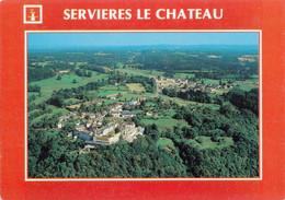 19 Servières Le Château Vue Générale (Carte Vierge) - Other Municipalities