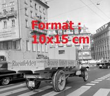 Reproduction Photographie Ancienne D'un Camion Saurer Berna Rheinfelden Brauerei à Lucerne Suisse 1963 - Reproducciones