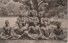 India Postcard Group Of Wrestlers - India