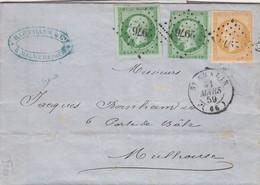 LETTRE. 31 MARS 1859. ST AMARIN BELFORT. PC 2976. HARTMANN FILATURE A MALMERSPACH HAUT-RHIN POUR MULHOUSE - 1849-1876: Classic Period