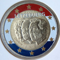 LU20011.3 - LUXEMBOURG - 2 Euros Commémo. Colorisée 50è Anniv. Nomination Jean - 2011 - Luxembourg