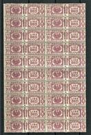 REGNO 1927 PACCHI POSTALI AQUILA SABAUDA 10 LIRE  BLOCCO DA 20 ESEMPLARI** MNH - Paketmarken