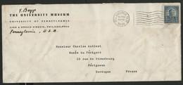 """ETATS UNIS N° 232 PERFORE PERFIN """"U Of P"""" En 1938 Sur Enveloppe Pour La France (voir Description) - Perforados"""