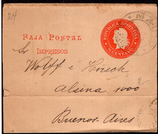 Argentina - Circa 1900 - Bande Postale - Republica - 1/2 Ctv - A1RR2 - Cartas