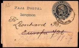 Argentina - Circa 1900 - Bande Postale - Republica - 2 Ctv - A1RR2 - Cartas