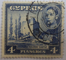 CYPRUS 1938 King George VI & Map Of Cyprus/Coat Of Arms  4½pi [USED] - Otros
