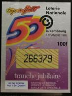Luxembourg, Loterie Nationale 1995 - Biglietti Della Lotteria