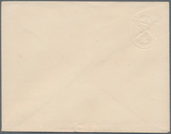 "Indien - Ganzsachen: 1922-26 Postal Stationery Envelopes KGV. 1a. (brown), Variety ""ALBINO"" (embosse - Sin Clasificación"