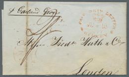 """Neusüdwales: 1841-1847, Drei Briefe Nach London, Jeweils Mit Ovalstempel """"Paid Ship Letter / Sydney - Briefe U. Dokumente"""