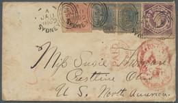 Neusüdwales: 1869, Brief Aus Sydney über London Nach Crestline / Ohio, Trotz Mängeln Attraktive Misc - Briefe U. Dokumente