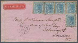 Neusüdwales: 1869, Kleiner Brief Aus Cooma, Frankiert Mit Fünfmal 2 Pence, Wz. 3, Nach Isleworth / L - Briefe U. Dokumente
