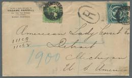 """Neusüdwales: 1899, Einschreibbrief Aus Sydney An Die """"American Lady Corset Co."""" In Detroit / Michiga - Briefe U. Dokumente"""