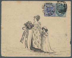Neusüdwales: 1899, Brief Aus Sydney Nach Kairo, Frankiert Mit 1/2 Penny Grau Und 2 Pence Königin Vic - Briefe U. Dokumente