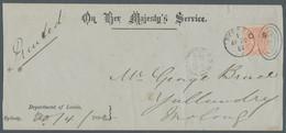 Neusüdwales - Dienstmarken: 1882, 1 Pence Rot, Wz. 7 Auf Dienst-Streifbandumschlag Aus Sydney Nach Y - Briefe U. Dokumente