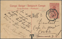 Belgisch-Kongo - Ganzsachen: 1921-30 Three Postal Stationery Picture Postcards Used, With 10c. Card - Sin Clasificación