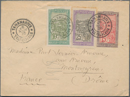 Madagaskar: 1921/33 Three Used Postal Stationery Envelopes, 1926 Uprated With 10c. Green And 25 C. L - Non Classés