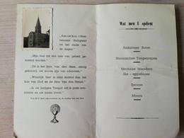 Essen Esschen Menu Ter Gelegenheid Van De Inzegening Van De St Antoniuskerk - Menükarten