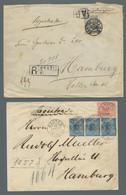 """Brasilien: 1894, Freimarke 2.000 Reis Entwertet """"Santos 14.Set.98"""" Als Einzelfrankatur Auf Einschrei - Cartas"""