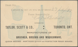 """Canada - Ganzsachen: 1897/1904. Lot Of 3 Different Private Postcards One Cent: """"The Cheapest Crocker - 1903-1954 Reyes"""