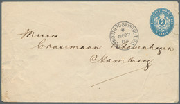 Dänisch-Westindien: 1883, 2 C Blue Postal Stationery Envelope (small Faults/tear), Addressed To The - Danemark (Antilles)