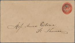 Dänisch-Westindien: 1891 Postal Stationery Envelope 3 Cents Red (watermark Type B) Canceled With Unn - Danemark (Antilles)