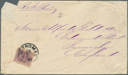 "Dänisch-Westindien: 1895, 10 C./50 C. Tied ""ST. THOMAS 28/5 1895"" On Cover To England W. June 12 Bir - Danemark (Antilles)"