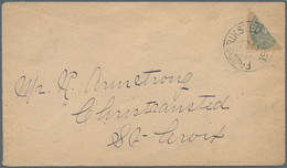 Dänisch-Westindien: 1903 Cover Franked With Bisected 4 Cents Grey-blue/light-brown Posted From Frede - Danemark (Antilles)