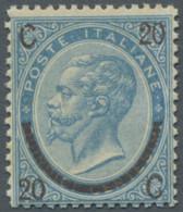 Italien: 1865, Freimarke 20 Auf 15 Centesimi Mattblau In Der Type III Mit Etwas Schwacher Ungebrauch - Ungebraucht