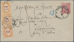 "Italien - Portomarken: 1879, Germany Stationery Envelope 10pfg. Red Used From ""HANNOVER 22.7.79"" To - Portomarken"
