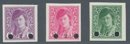 Jugoslawien: 1919, Zeitungsmarken 3 Werte Komplett In Tadelloser Ungebrauchter Erhaltung Mit Saubere - Unused Stamps