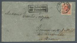 Schweden - Besonderheiten: 1885, 20 Öre Ziegelrot Auf Brief Nach Stralsund, Entwertet Mit Deutschem - Sonstige
