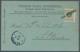 Schweden - Besonderheiten: 1888, Ziffern, 5 Öre Auf Drucksachenkarte Aus Göteburg Nach Altona, Entwe - Sonstige