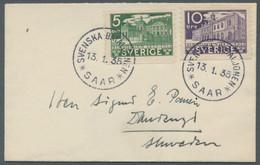 Schweden - Besonderheiten: 1935 - Schwedische Feldpost, Frankierter Brief Aus Dem Saargebiet Nach Sc - Sonstige