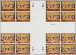 Vereinte Nationen - Genf: 1997. Imperforate Cross Gutter Block Of 4 Blocks Of 4 For The 1.10fr Value - Nuevos