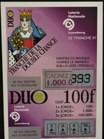 Luxembourg, Loterie Nationale 1997 - Biglietti Della Lotteria