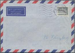 """Berlin: 1962. Brandenburger Tor 1 Pf Mit Aufdruck """"Entwertet"""" Auf Lp-Brief Als Versuchsbrief Mit Mas - Cartas"""