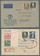 Berlin: 1949-1958, Partie Von über 80 Belegen Mit U.a. Auslandsdestinationen, Einschreiben, Einzelfr - Cartas