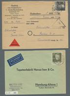 Berlin: 1950-1954, Partie Von 18 Belegen Mit Einigen Besseren Frankaruren Wie Z.B. Mi.Nr. 71, 88/90 - Cartas