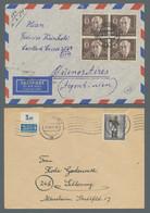 Berlin: 1954-1955, Partie Von 16 Belegen Mit Frankaturen Aus Dem Mi.Nr. 115 Bis 125, Darunter 115 Im - Cartas