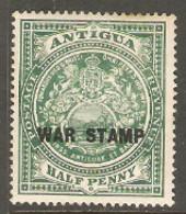 Antigua   1916  SG  52  WAR STAMP Overprint  Mounted Mint - 1858-1960 Kronenkolonie