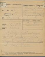 Finnland: 1916-1921, Partie Von 21 Gebrauchten Telegrammen Mit Teils Interessanten Empfängern Wie Z. - Cartas