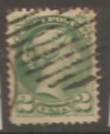 Canada  1870  SG  77  2c Deep Green    Fine Used - Oblitérés