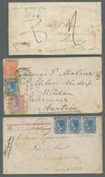 Neusüdwales: 1846-1910, 26 Belege (drei Davon Unvollständig Bzw. Beschädigt), In Stark Unterschiedli - Briefe U. Dokumente