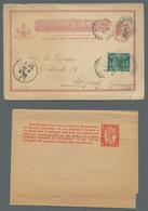 Queensland - Ganzsachen: 1880-1911, Sechs Verschiedene Ganzsachen Mit Wertstempel Königin Victoria, - Briefe U. Dokumente