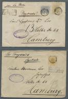 Brasilien: 1892-1893, Partie Von 3 Briefen Nach Hamburg Mit 1.000 Reis (Mi.Nr.93) Einzelfrankatur Au - Cartas
